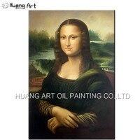 Professionale Artista Riproduzione di Alta Qualità Fatti A Mano Realistico Ritratto Famosi La Mona Lisa Smile Pittura A Olio Su Tela di Arte