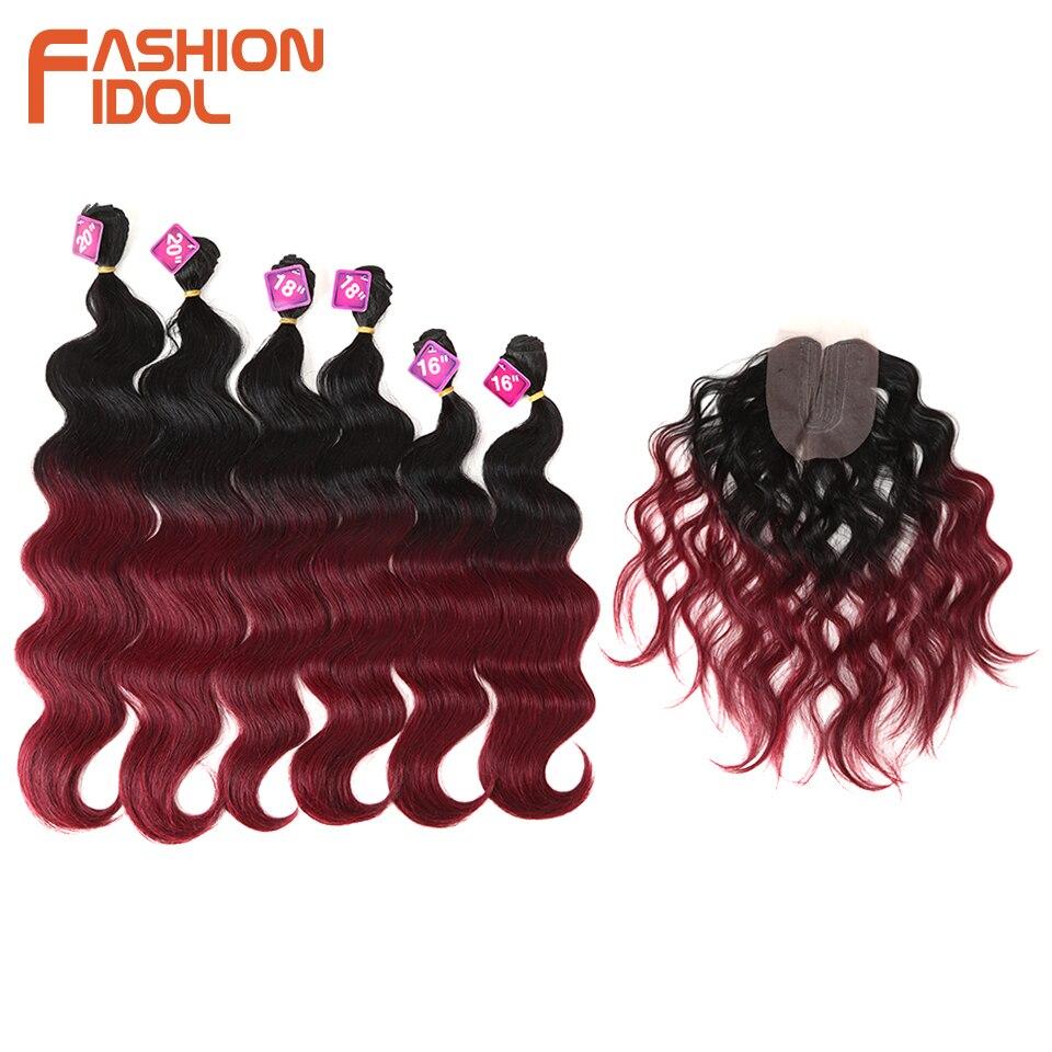 Noble Body Curl Hair 16-20 inch 7Pieces / lot 240g Syntetiska - Syntetiskt hår - Foto 2