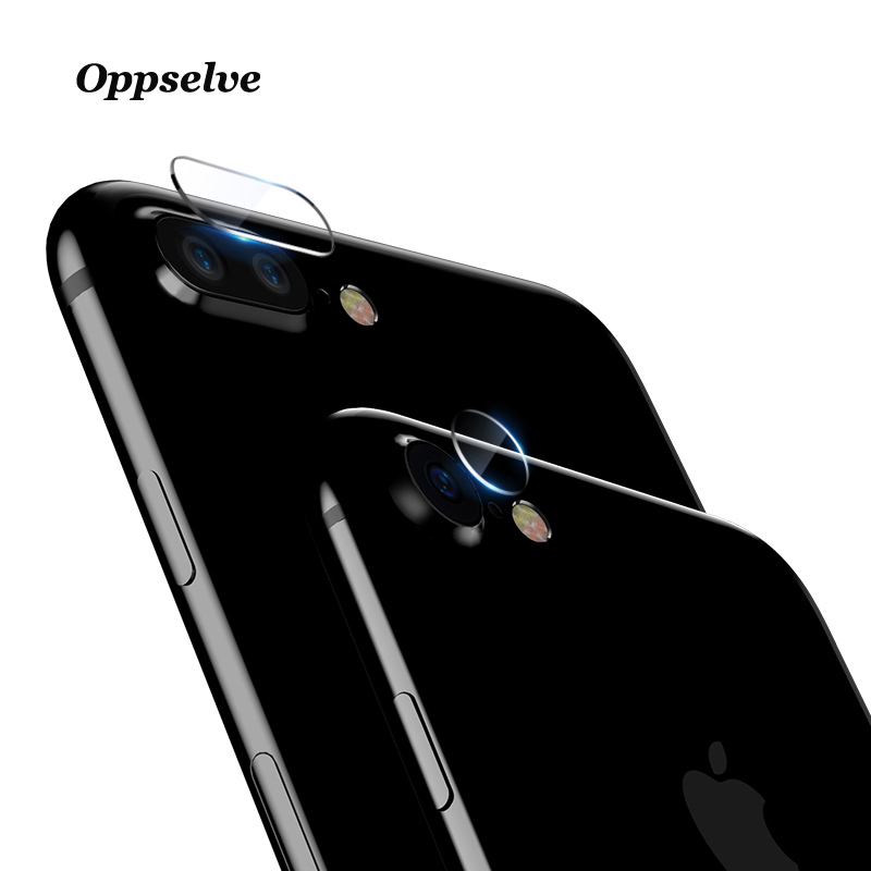 Oppselve Camera Lens Tempered Glass For iPhone 8 7 Plus Transparent Full Cover Mobile Phone Screen Protector