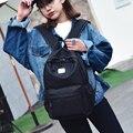 Новый модный чистый цвет нейлон женщины рюкзак студент школы мешок книги отдыха рюкзак сумка