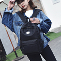 New fashionable pure color nylon women backpack college student school book bag leisure backpack travel bag