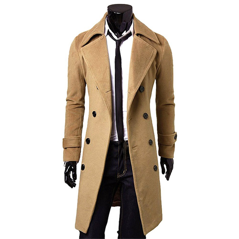 2018 New Arrivals Autumn Winter Trench Coat Men Brand Clothing Cool Mens Long Coat Top Quality Cotton Male Overcoat M-3XL