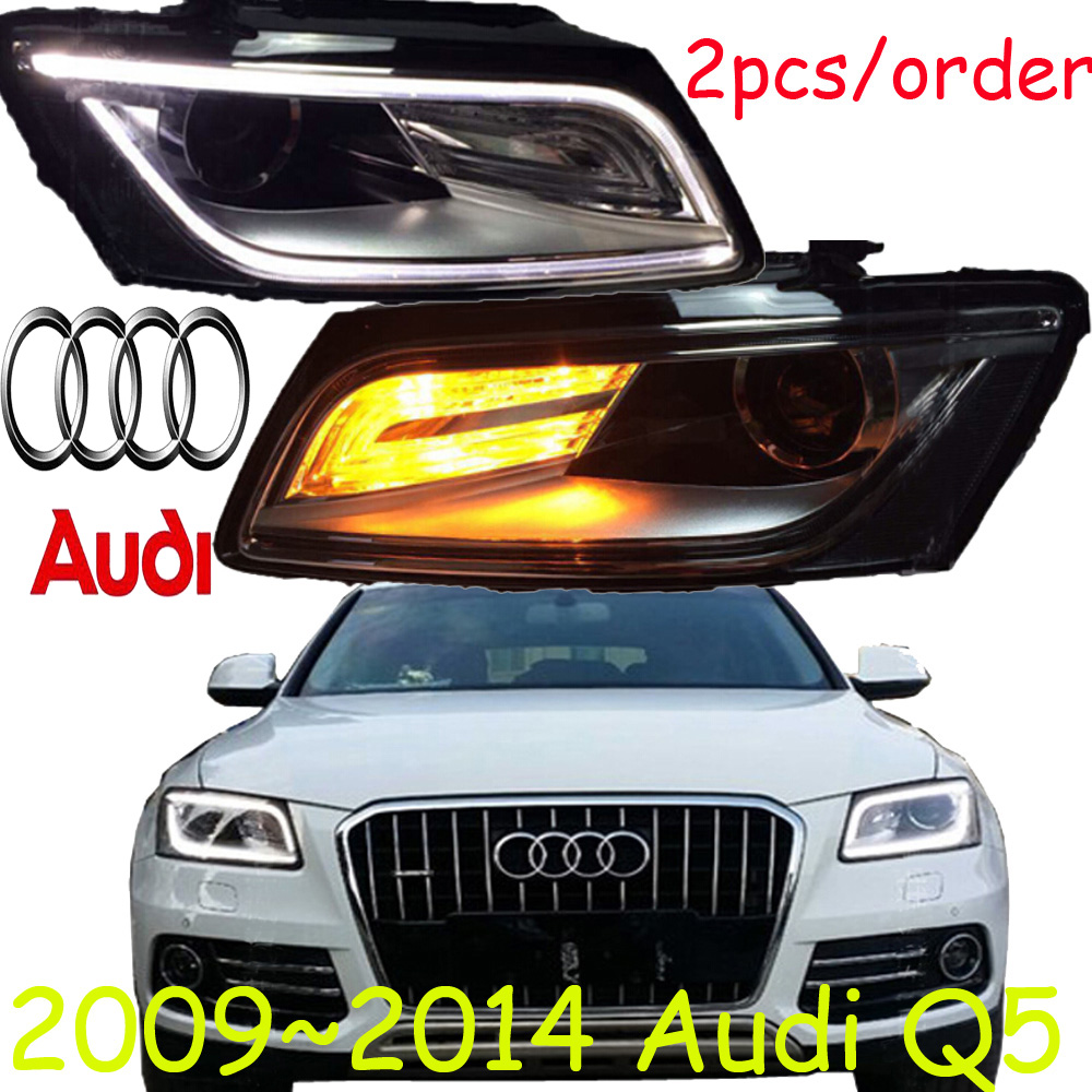 Q5 headlight,2009~2014,Fit LHD,Free ship! Q5 fog light,2ps/set+2pcs Ballast;Q 5 roewe headlight 550 2009 2013 fit for lhd and rhd free ship roewe fog light 2ps set 2pcs aozoom ballast roewe 550