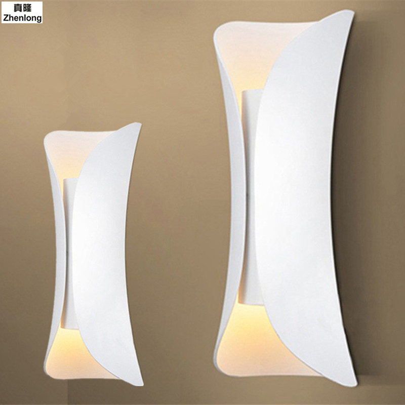Nordic Modern Aisle Wall Lamp Bedside Bedroom Stair Balcony Led Simple Corridor Wall Background Creative Personality Wall Light 2017 new sale post modern simple nordic bedroom study bedside aisle balcony creative personality led wall lamp home decor lights