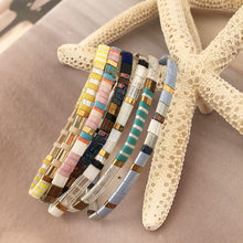 NeeFu WoFu filament Bracelet Bohemian Exquisite Bracelets For Women Summer Beach Colorful Jewelry Pulseras Insta Fashio(China)