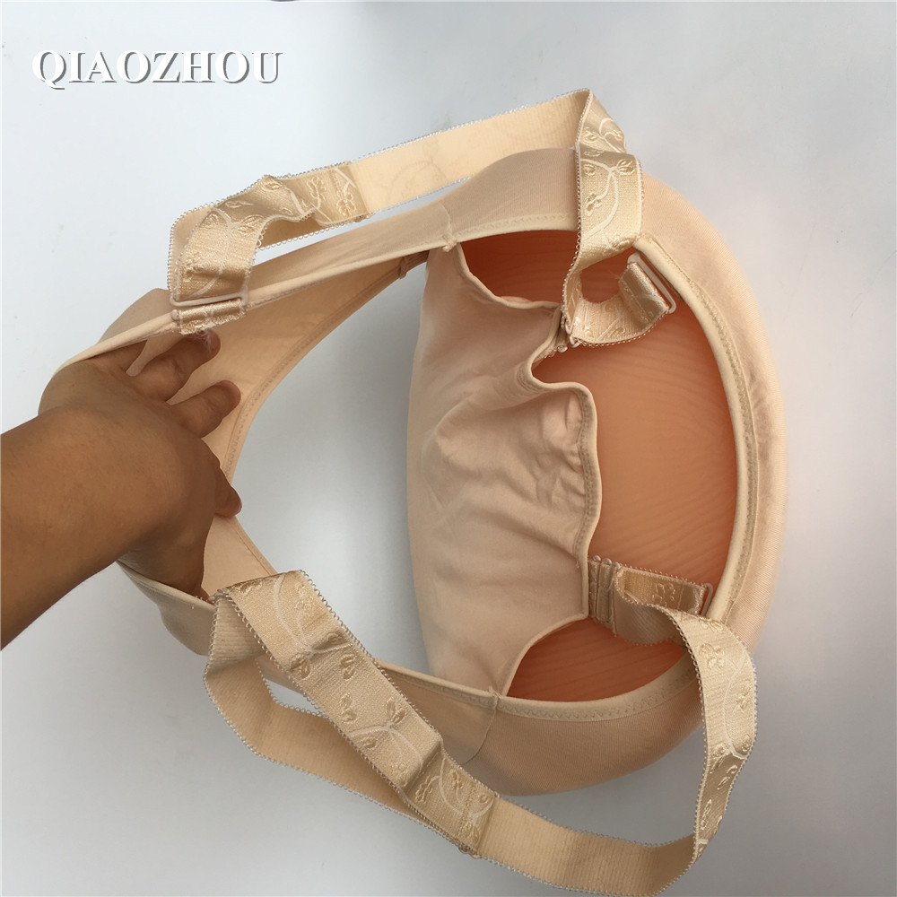 2000g 5~6 months silicone fake pregnant belly with straps pocket for false pregnancy film tools crossdressing