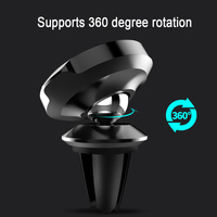 Baseus Magnetic Car Holder for iPhone Samsung Air Vent Mount Mobile Phone Holder Stand 360 Degree Rataion GPS Car Phone Holder 2