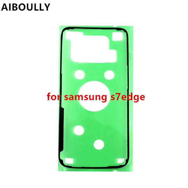 AIBOULLY batería Original cubierta de la etiqueta engomada para Samsung Galaxy S7 borde S7 Edge G935 G935F trasera de la cubierta de la batería puerta adhesivo