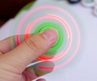 2017 Fashion Shake Light Tri Spinner Fidget Toy ABS EDC Hand Spinners For Autism And