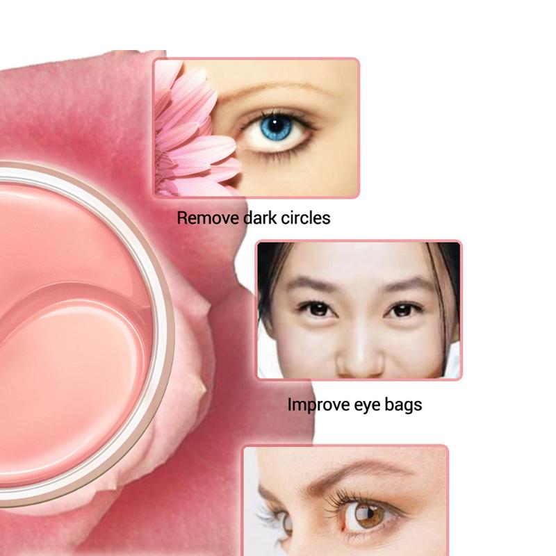 60Pcs/Box Plant Extract Moisturizing Eye Mask Eye Care Black Eye Patch Aging Anti Wrinkles Aquagel Collagen Eye Mask Health 15