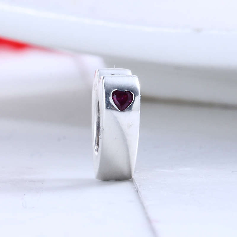 2018 Valentines Day 100% 925 Sterling Silver Fit Original Pandora Bracelet Two Hearts Spacer Charm Beads for Jewelry Making