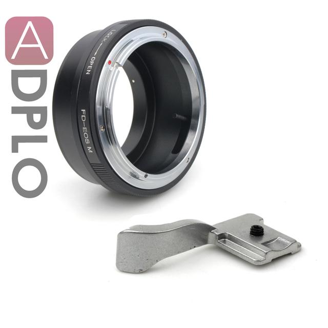 Pixco adaptador de montagem terno para Canon FD Lens para Canon EOS M câmera Mirrorless M3 M2 M + sapatos ( prata )