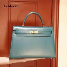 2017 Cowhide luxury brand runway women tote handbag 100 handmade top quality CL702181