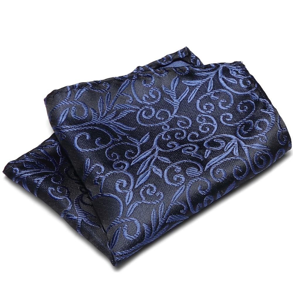 Fashion Vintage Floral Pocket Towel Male Handkerchief Pocket Square For Men Polyester Silk Business Suits Hanky