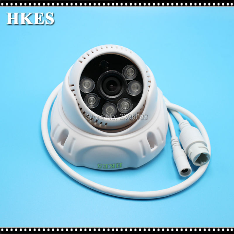 HKES Mini IP camera 1280*960P 1.3 MegaPixel ONVIF 2.0 Indoor IR Dome IR-CUT Filter Night Vision Security Camera CCTV Camera 4pcs lot 960p indoor night version ir dome camera 4 in1 camera 3 6mm lens p2p onvif abs plastic housing