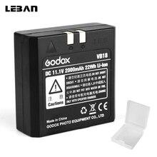 Godox vb18 dc 11.1 v 2000 mah 22wh 리튬 이온 리튬 이온 배터리 v850 v860c v860n 플래시 스피드 라이트