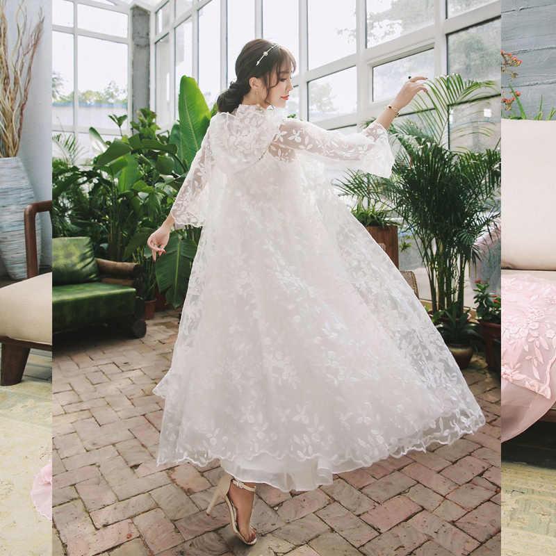 09700ef5a ... Women Luxury Sleep   Lounge Elegant Sleepwear White Lace Nightgown Long  Princess Arab Night Dress Ladies ...