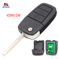 KEYECU Replacement 2 Button +Panic for UTE Holden VE Commodore Omega Berlina Complete Remote Flip Key Fob