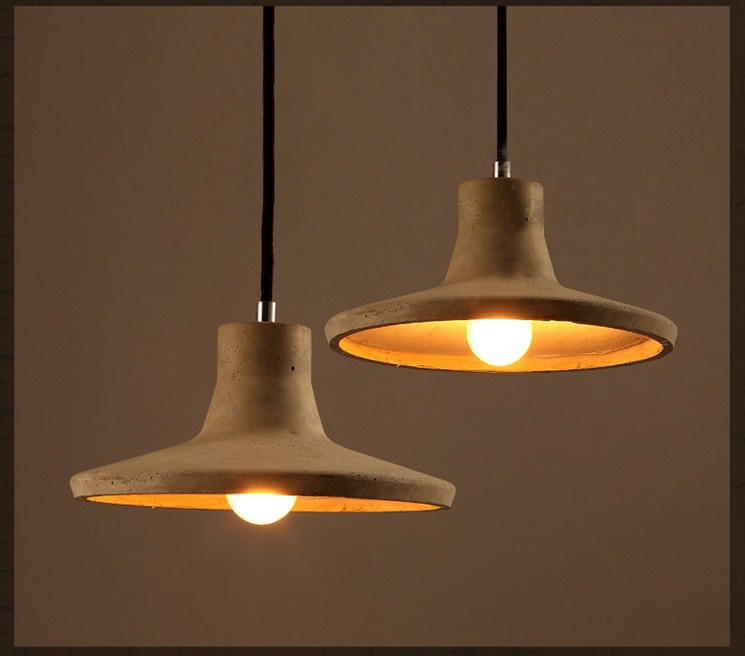 Cement Pendant Light LOFT Industrial Warehouse Lamp Dining Room Bedside Bar Iron Pendant Lamps [dbf]modern led pendant light foyer dining room light modern pendant light hanging lamp loft bar beat cement pendant e14 holder
