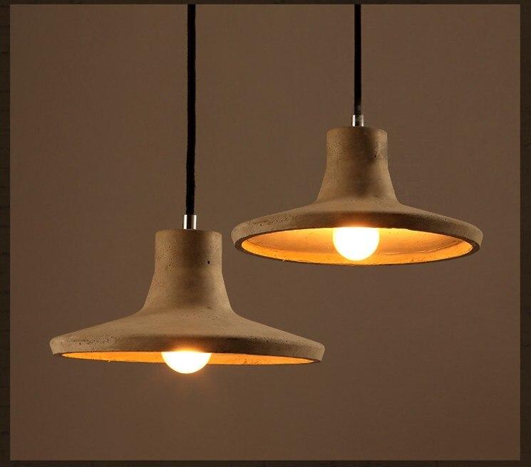 Cement Wisiorek Swiatla Loft Magazyn Przemyslowy Lampki Nocne Lampy