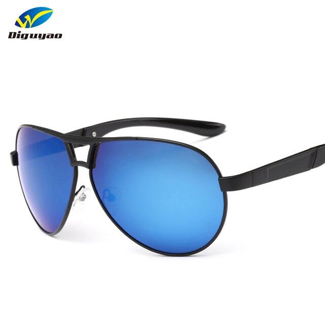 e6e5cc113c2 DIGUYAO NEW Fashion men sun Glasses Large Metal frame Brand TAC Polarized  Blue Green Lens Sunglasses Driving Mirror Eyewear male