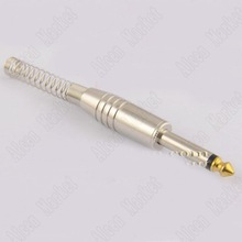 10pcs 6.35 6.5mm Single Track Mixing Console Socket Long Spring Full Metal Microphone Plug Two Big Core