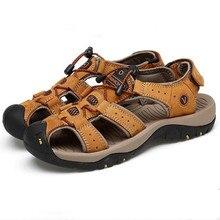 Мужские сандалии для прогулки с закрытым носком из нубука, рыбацкие спортивные сандалии для трекинга, пляжные сандалии