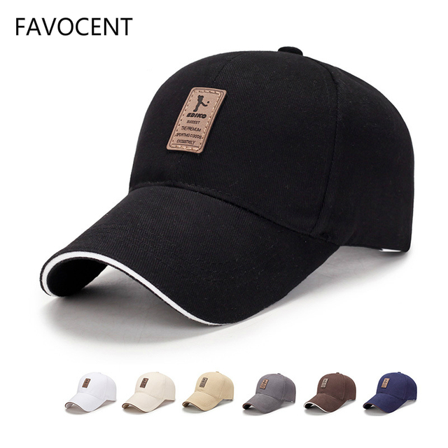 size 40 040dd 05b10 FAVOCENT Baseball Cap Men s Adjustable Cap Casual Leisure Hats Solid Color  Fashion Snapback Summer Fall Hat Women Caps 11 Colors