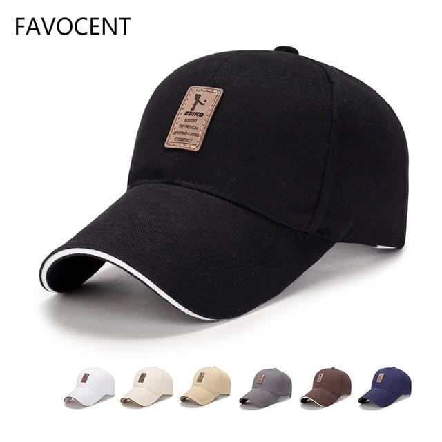 e6289daf4728b FAVOCENT gorra de béisbol ajustable de los hombres casuales de ocio  sombreros moda Color sólido del