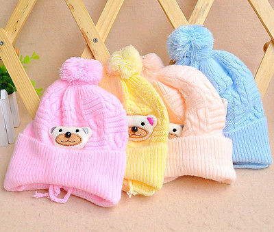 Cute Kids Baby Toddler Boy Girl Cute Soft Knit Warm Hat Cap Cotton Beanie kids baby cotton beanie soft girl boy knit hat toddler infant kid newborn cap