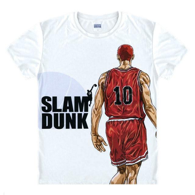 SLAM DUNK T Shirt Rukawa Kaede Koszula Modne Koszulki