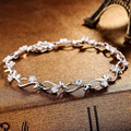 Factory Direct S925 Silver Inlaid Bracelet Fashion Wild Silver Inlaid Silver Jewelry Wholesale