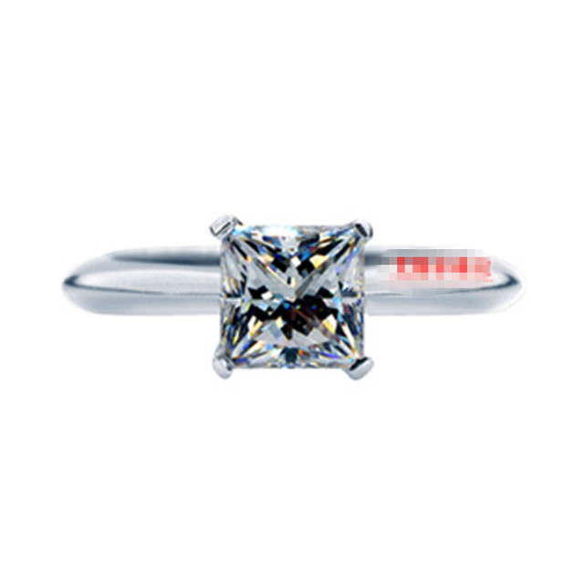Rings For Women 925sterling Silver Princess Cut Sona Simulated Diamond Wedding Engagement Ring Solitaire