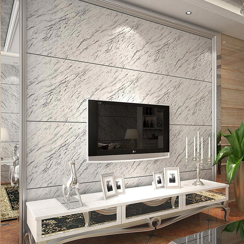Modern Stripe Marble Stone Matt Light Vinyl Wall Paper Waterproof Eco-friendly PVC Wallpaper For Kitchen bathroom Living Room