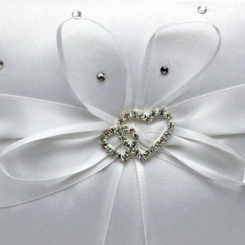 4 pièces/ensemble 5 couleurs décoration de mariage nuptiale Satin anneau oreiller + panier de fleurs + livre d'or + ensemble de stylos produits Casamente - 4