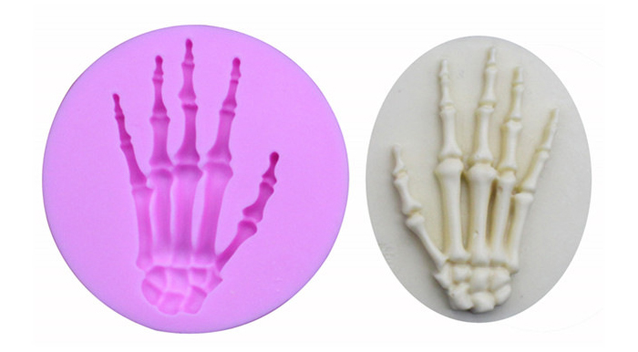 1PC Skull Hand Halloween Silicone Mold Fondant Cake Decor Tools Chocolate Candy