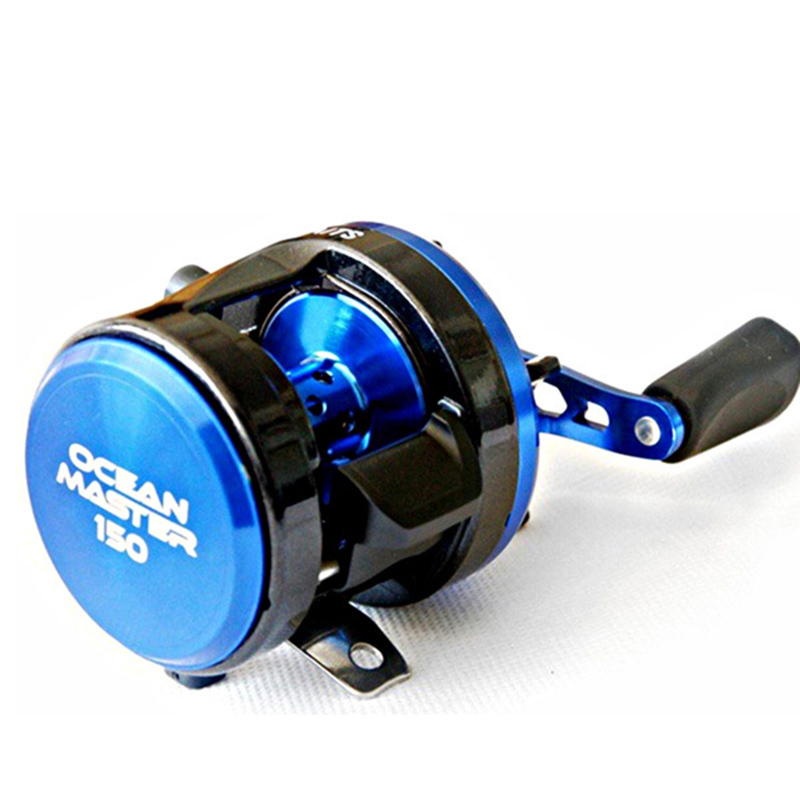 Drum Trolling Fishing Reel Saltwater Sea Deep Water Boat Fishing Bait Casting Coil Magnetic Drag Left Right Handle 7+1BB metal round jigging reel 6 1 bearing saltwater trolling drum reels right hand fishing sea coil baitcasting reel