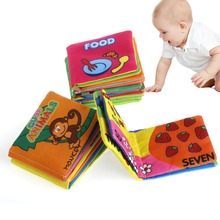 Soft Fabric Baby Children Intelligence development Squeaky Picture Cloth Books