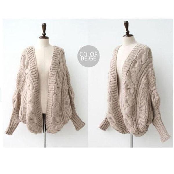 Women Oversized Loose Knitted Sweater Batwing Sleeve Tops Cardigan Outwear  Coat 2015 New Fashion Hot sale moda feminina winter -in Cardigans from  Women s ... 6e8760c61