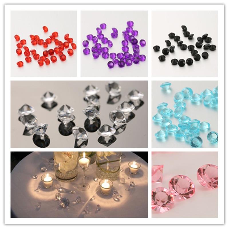 1000 Stks 8mm Bruiloft Decoratie Acryl Kristallen Diamond Nail Kit Gelukkige Verjaardag Confetti Strass Partij Tafel Scatters