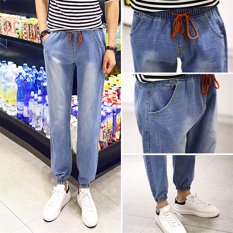 Plus Size Trousers Summer Fashion Men's Jeans Blue Slim Denim Pants Blue For Male Casual New Brand Trend Jeans M~3XL 17 shark summer new italy classic blue denim pants men slim fit brand trousers male high quality cotton fashion jeans homme 3366
