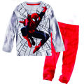 clear stock 1pc retail 100% cotton baby boy clothes pijama kids sets spiderman design