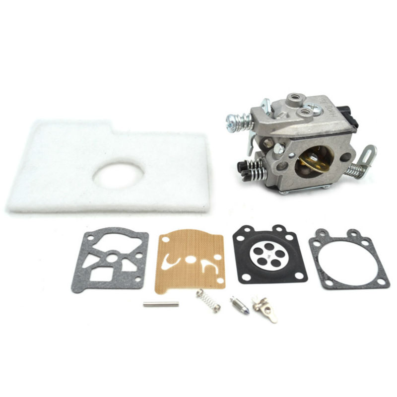 MS180 170 017 018 Walbro Carburetor with Repair Kits Diaphragm Gasket Set and Air Filters for Chainsaw Stihl Replacement 2 set throttle trigger interlock kit for stihl ms 180 170 ms180 ms170 018 017 chainsaw replacement parts 1130 182 0800 1130 18