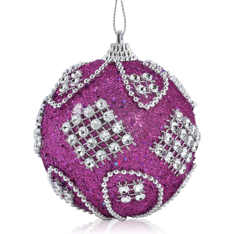 Christmas Rhinestone Glitter Baubles Balls Xmas Tree Ornaments christmas decorations enfeite de natal for home 2018 #2o26 (4)