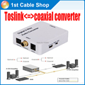 Free shipping  1pcs bi-directional Optical spdif toslink to coaxial or coaxial to toslink audio converter with power supply