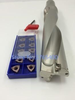 New 1pcs WC SD22-2D-C20-44L U Drill +10pcs WCMX040208 ACZ330 carbide inserts indexable drill bit tool