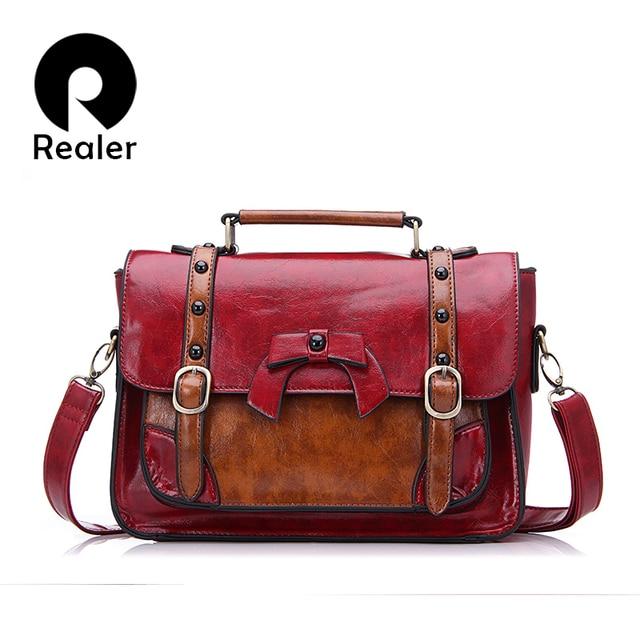 a3271a19b523 Дизайнерская сумка бренда Realer 2016 года,модная женская сумка через  плечо, сумка из PU