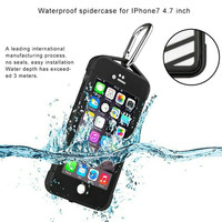 Outdoor IP68 Certificated 100% Waterproof Case for iPhone 7/7 plus Full Sealed Diving Protection Cover with fingerprint
