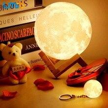 LMID LED Night Lamp 3d Printing Moon Lamp Home Decor Creative Battery