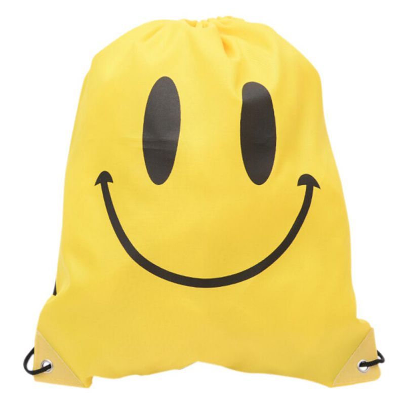 Drawstring Backpack Softback Shoulders Draw String Outdoor Beach Gym Swimming Clothing Shoes Towel Storage Bag